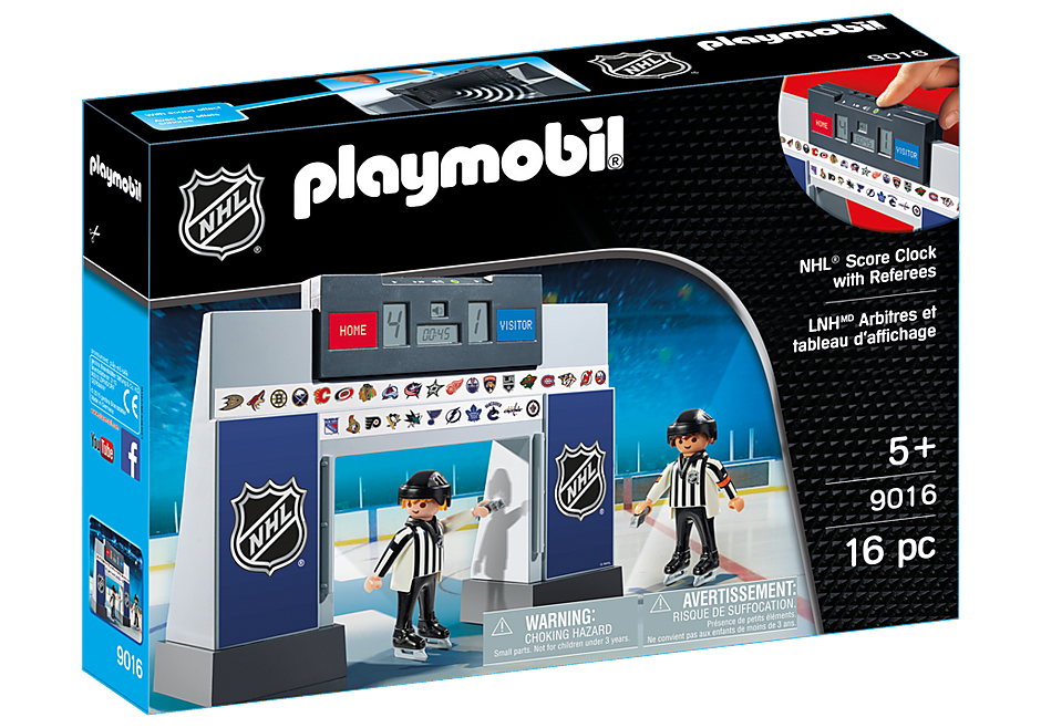 9016 NHL® Score Clock  with 2 Referees detail image 3