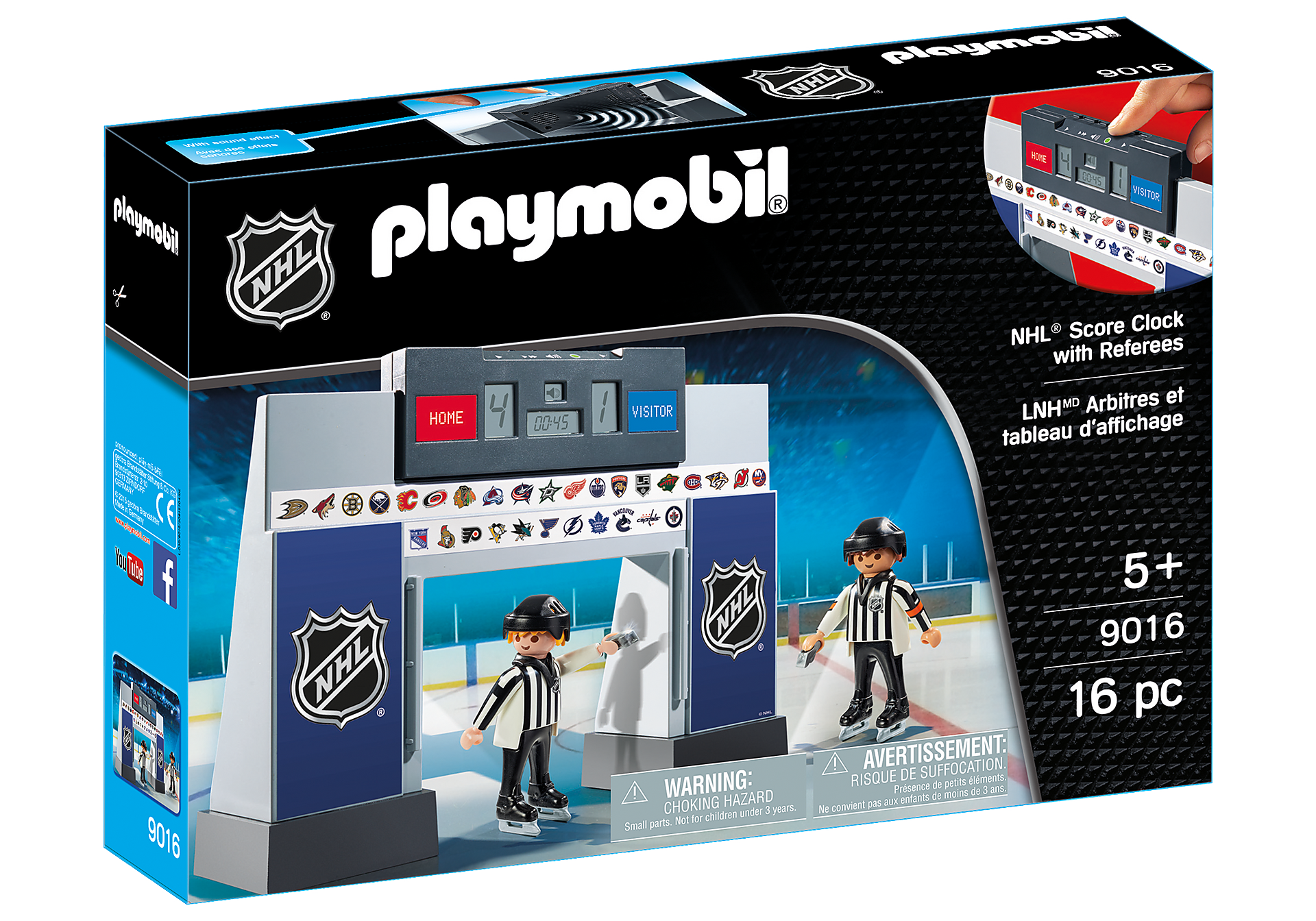 9016 NHL™ Score Clock  with 2 Referees zoom image2