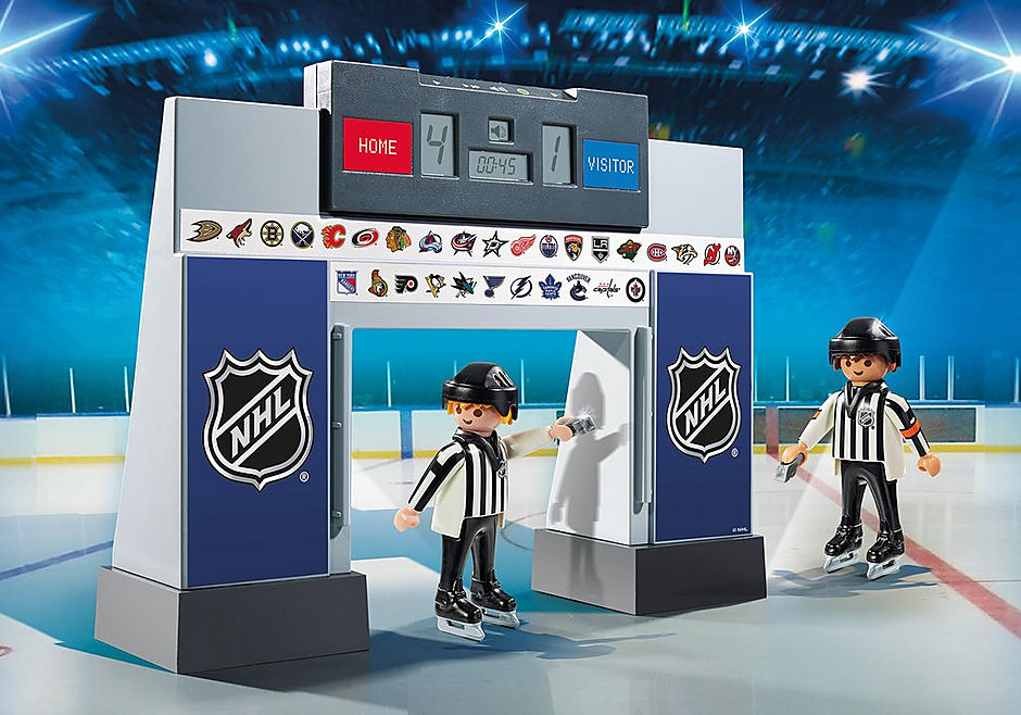 9016 NHL® Score Clock  with 2 Referees detail image 1
