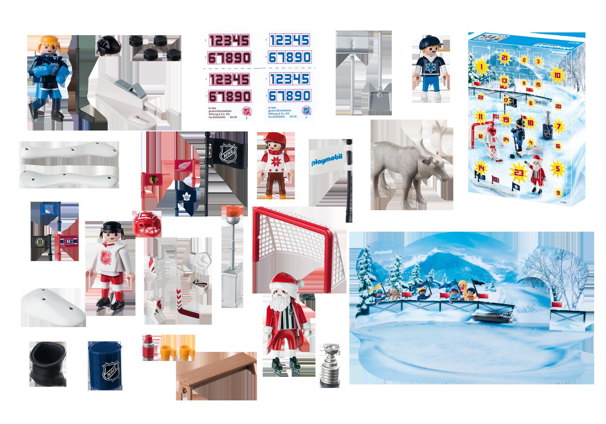http://media.playmobil.com/i/playmobil/9017_product_box_back/NHL® Advent Calendar - Rivalry on the Pond