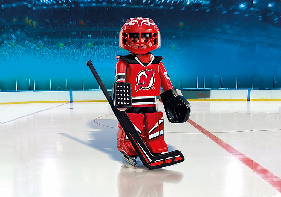 brand new d7585 a7c6f NHL® New Jersey Devils® Goalie - 9036 - PLAYMOBIL® USA