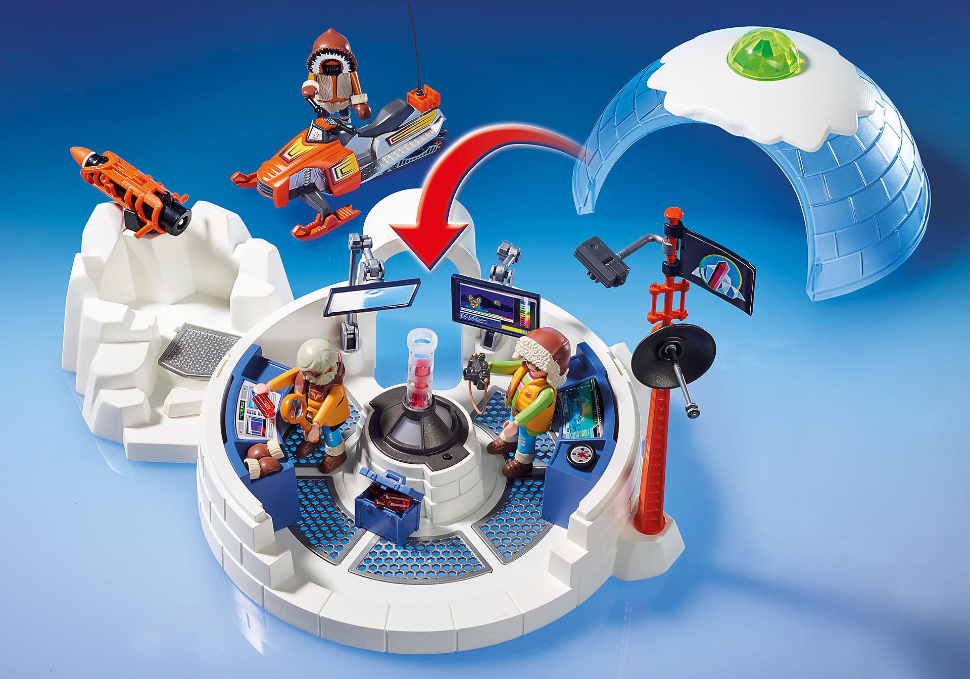 http://media.playmobil.com/i/playmobil/9055_product_extra1/Polar Ranger Hauptquartier