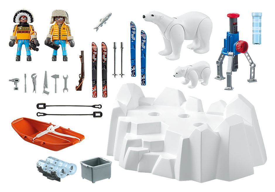 http://media.playmobil.com/i/playmobil/9056_product_box_back/Arctic Explorers with Polar Bears