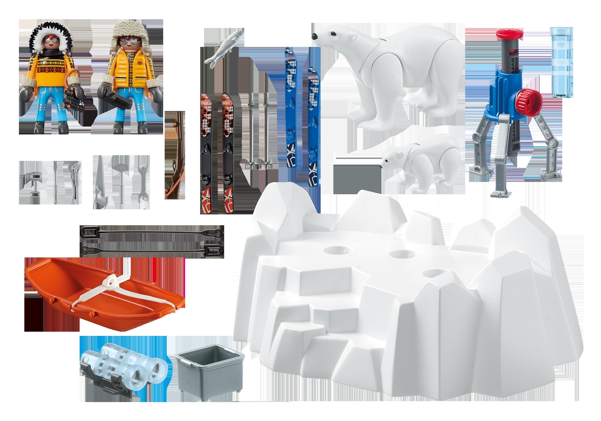 http://media.playmobil.com/i/playmobil/9056_product_box_back/Arctic Explorers with Polar Bears