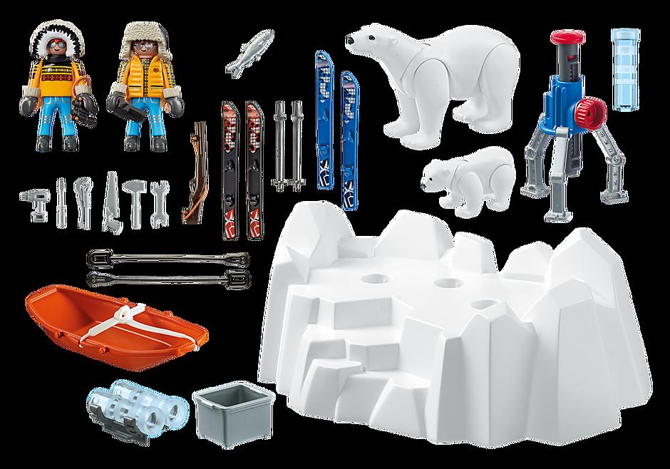 9056 Polarforskare med isbjörnar detail image 4