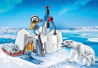 9056 Explorateurs avec ours polaires