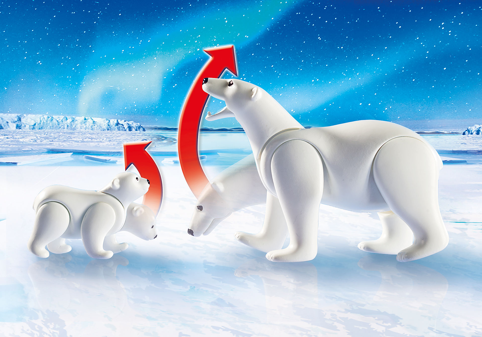 9056 Polarforskare med isbjörnar zoom image6