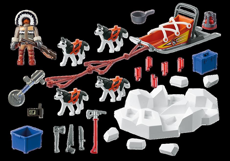 9057 Poolreizigers met hondenslee detail image 4