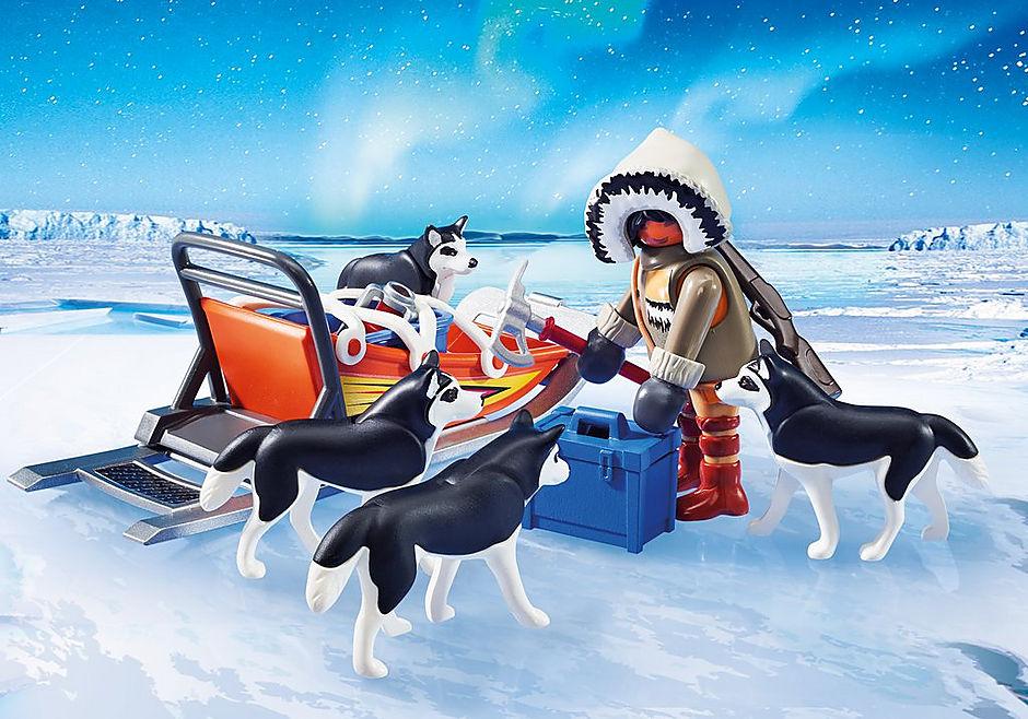 9057 Poolreizigers met hondenslee detail image 6
