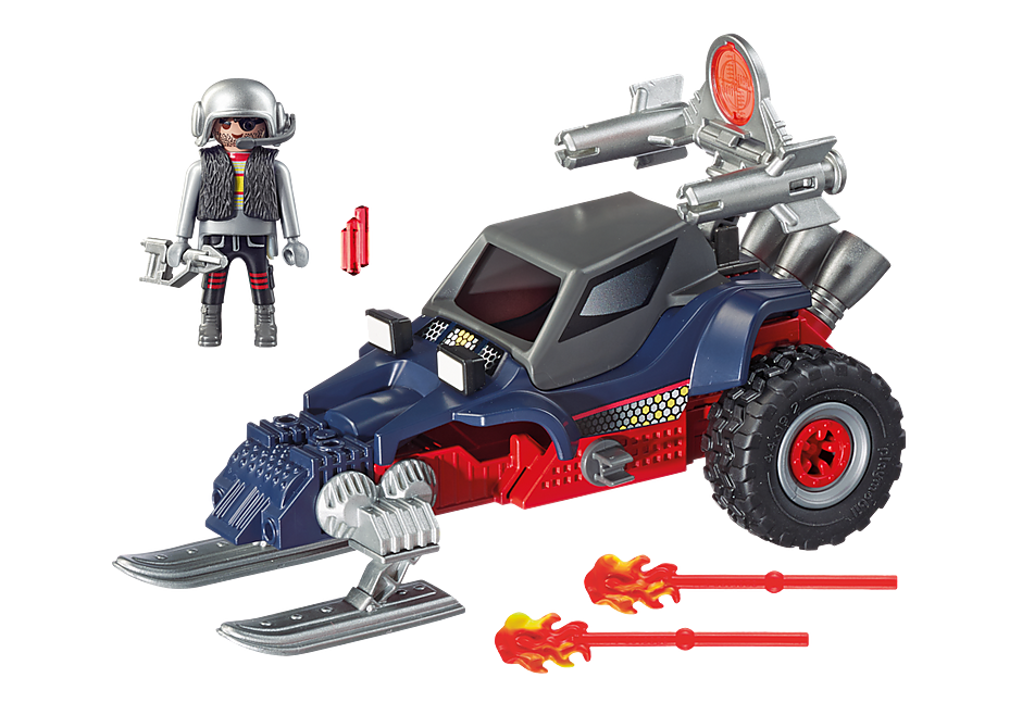 9058 Predatore con motoslitta detail image 4