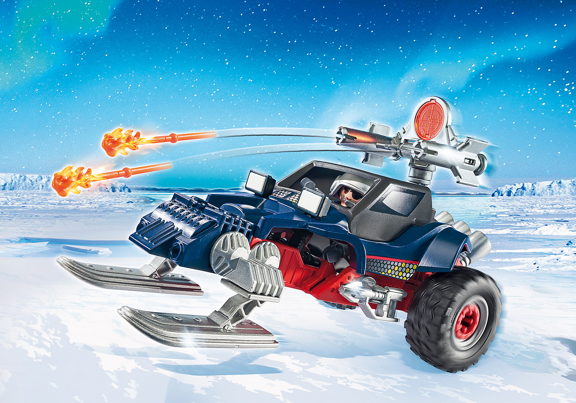 9058 Ice Pirate with Snowmobile zoom image1