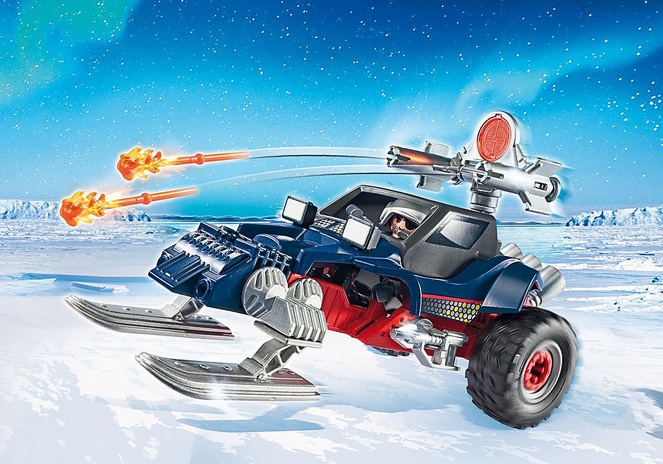 9058 Predatore con motoslitta detail image 1