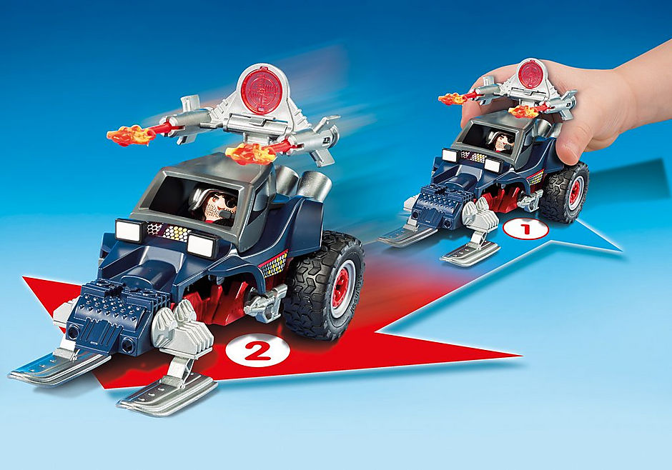 9058 Ice Pirate with Snowmobile detail image 5