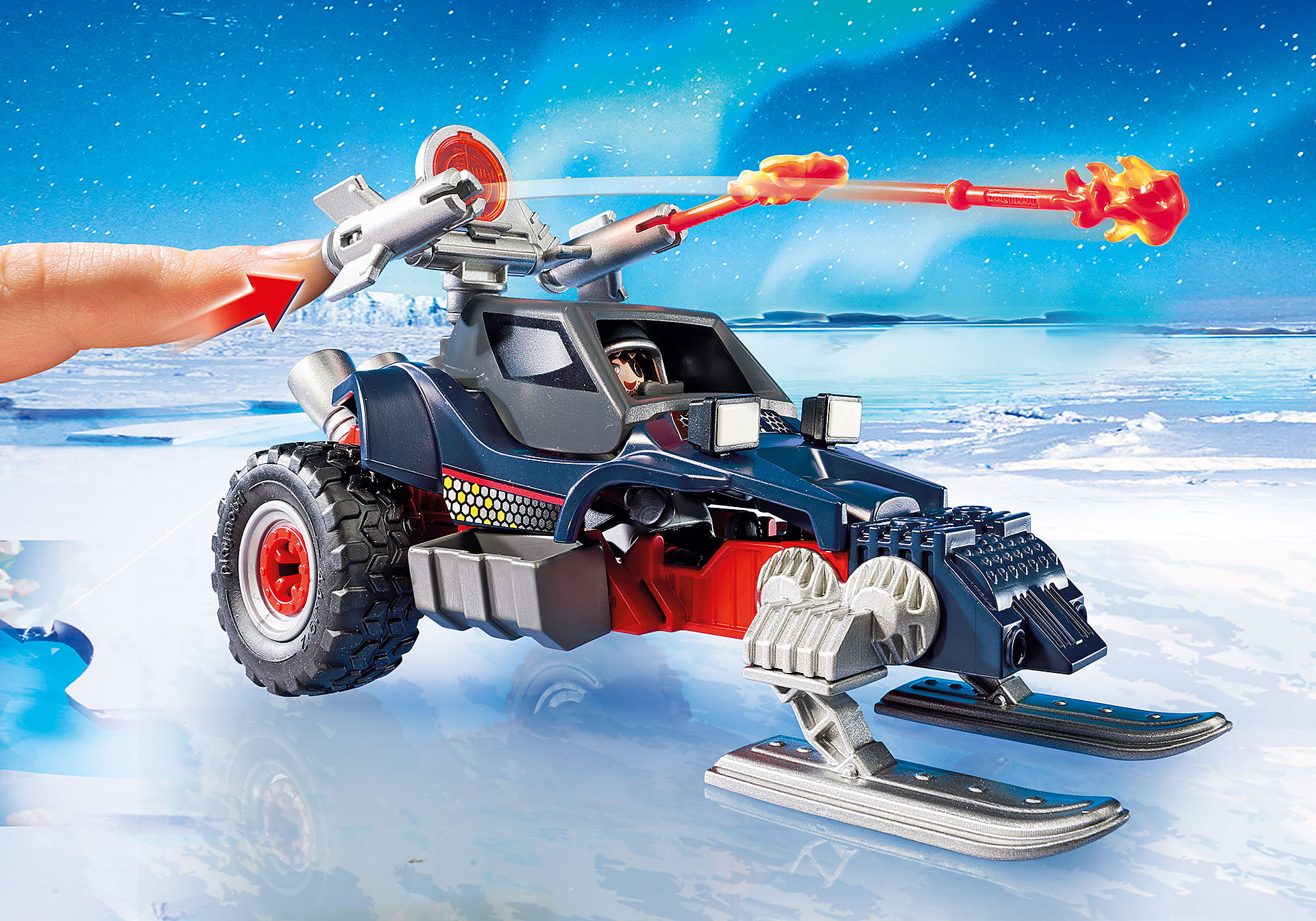 9058 Ice Pirate with Snowmobile zoom image6