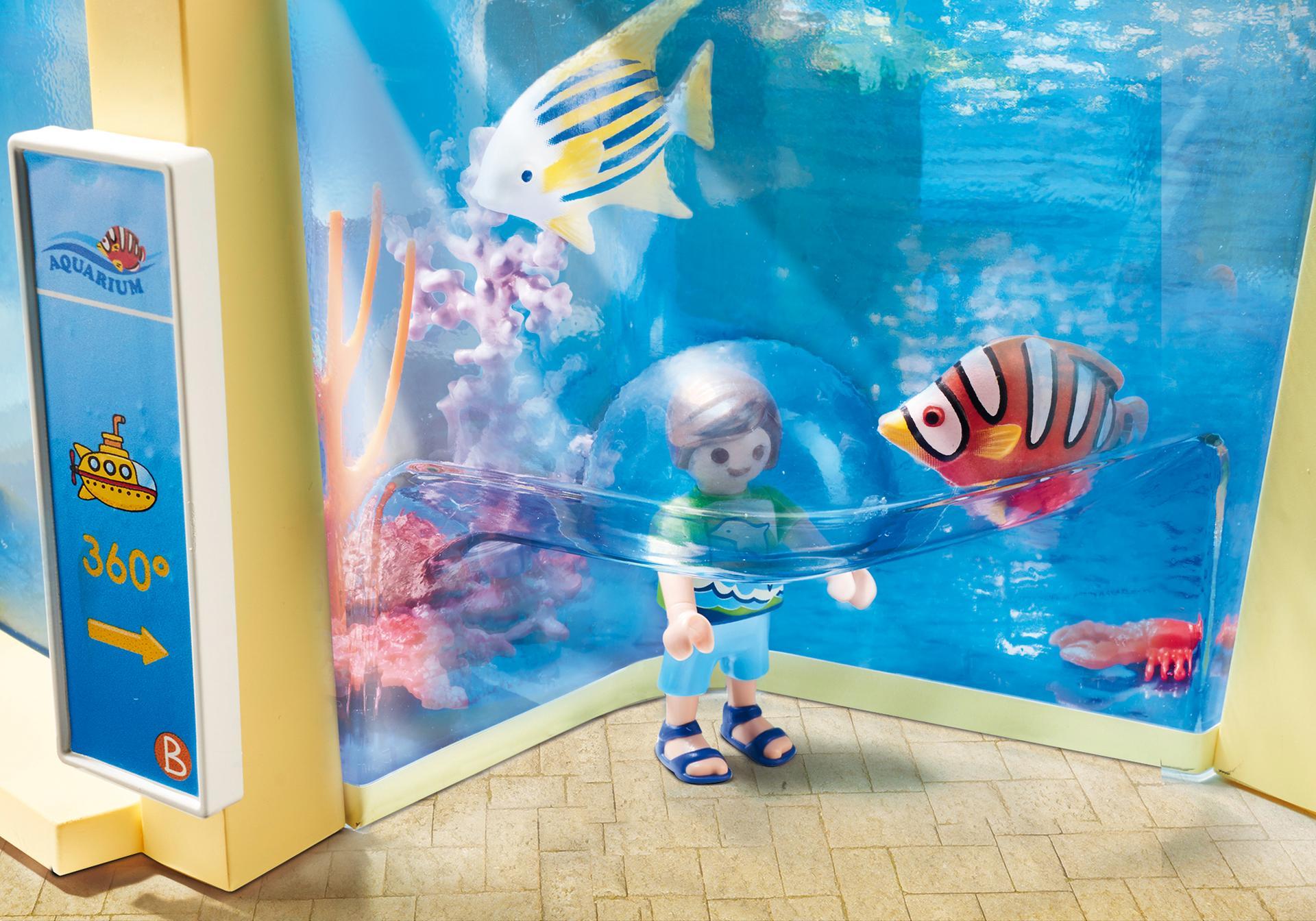 Aquarium marin 9060 playmobil france for Poisson acoiriome