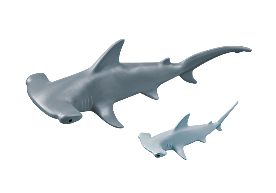 9065 Hammerhead Shark with Baby detail image 4