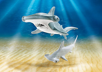 9065_product_detail/Hammerhead Shark with Baby