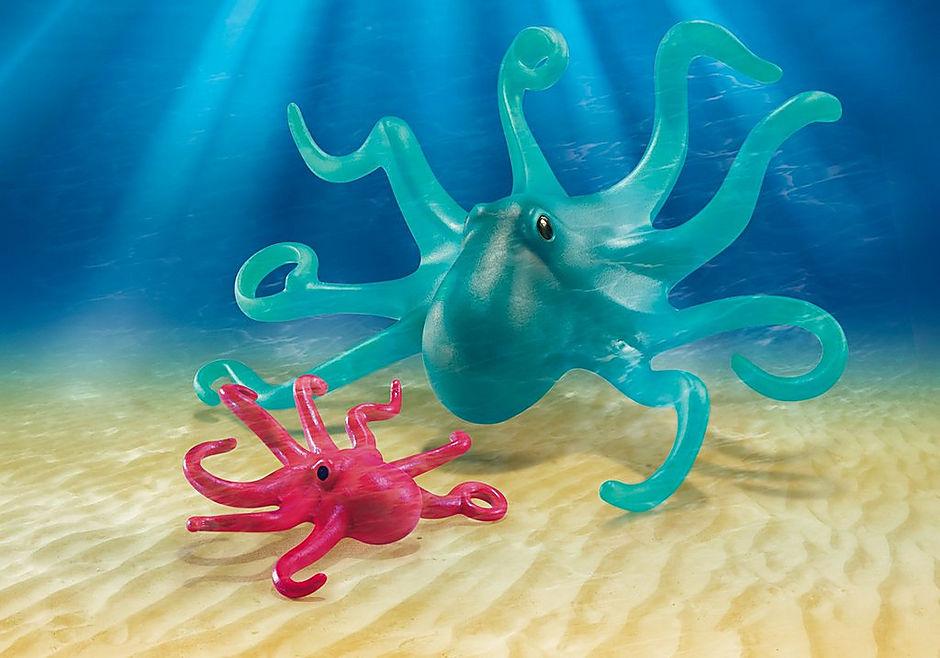 9066 Blæksprutte med unge detail image 1