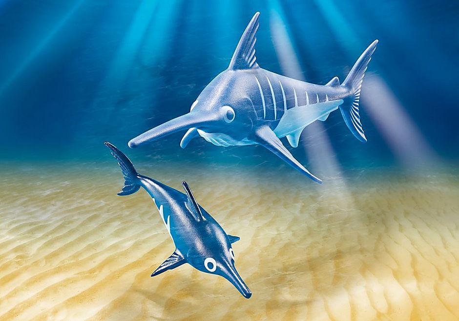 9068 Schwertfisch mit Baby detail image 1
