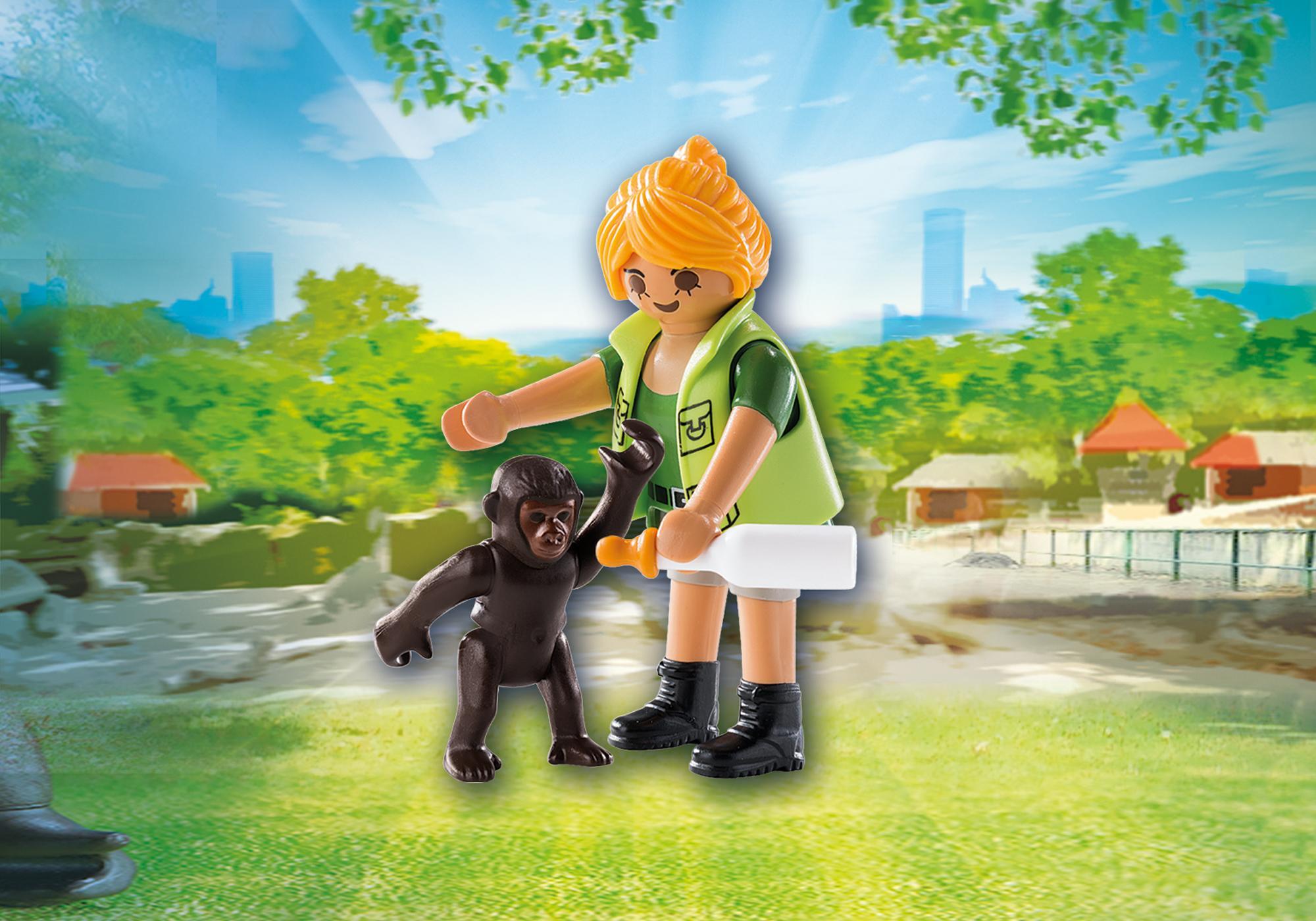 9074_product_detail/Tierpflegerin mit Gorillababy