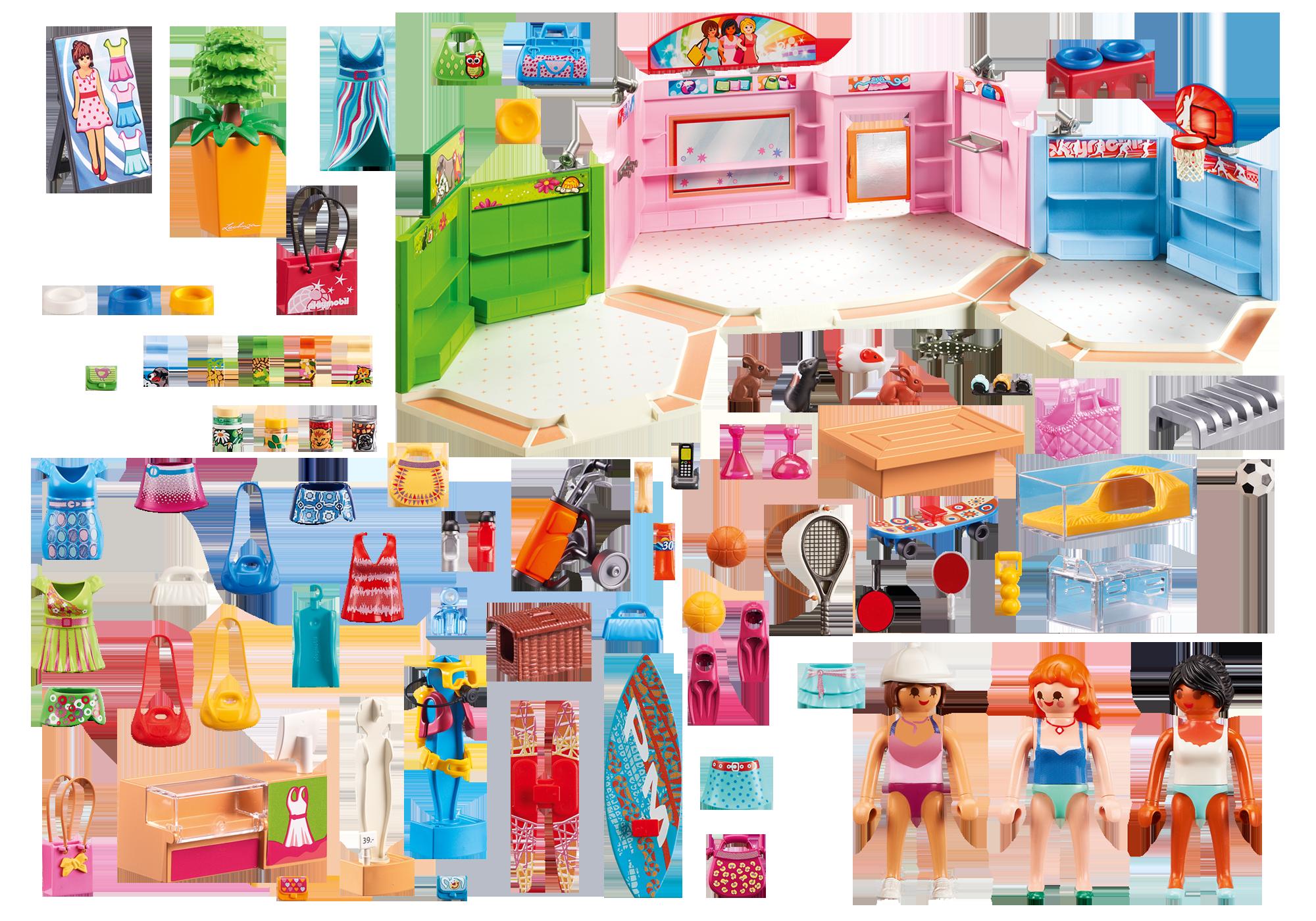 http://media.playmobil.com/i/playmobil/9078_product_box_back/Galleria con 3 negozi