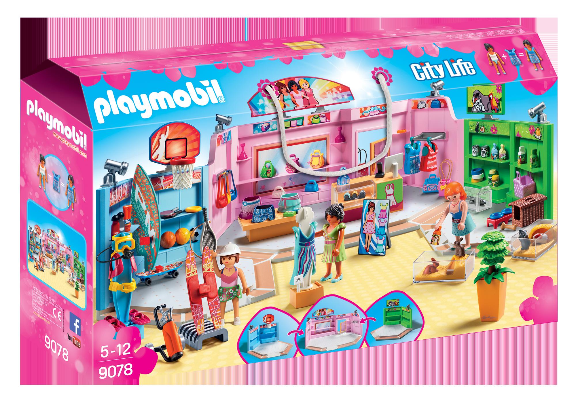 http://media.playmobil.com/i/playmobil/9078_product_box_front/Galleria con 3 negozi