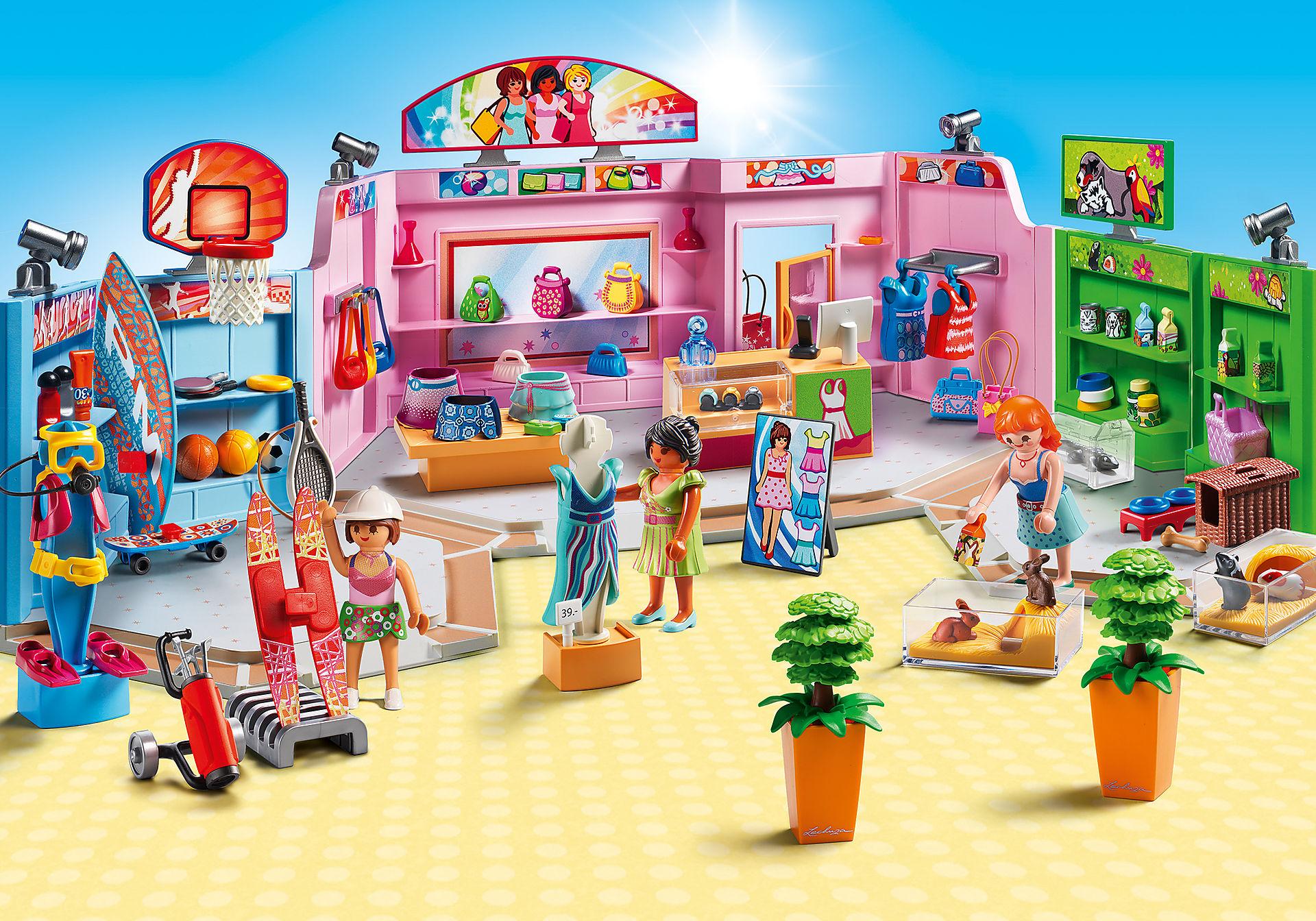 http://media.playmobil.com/i/playmobil/9078_product_detail/Galeria Comercial com 3 lojas