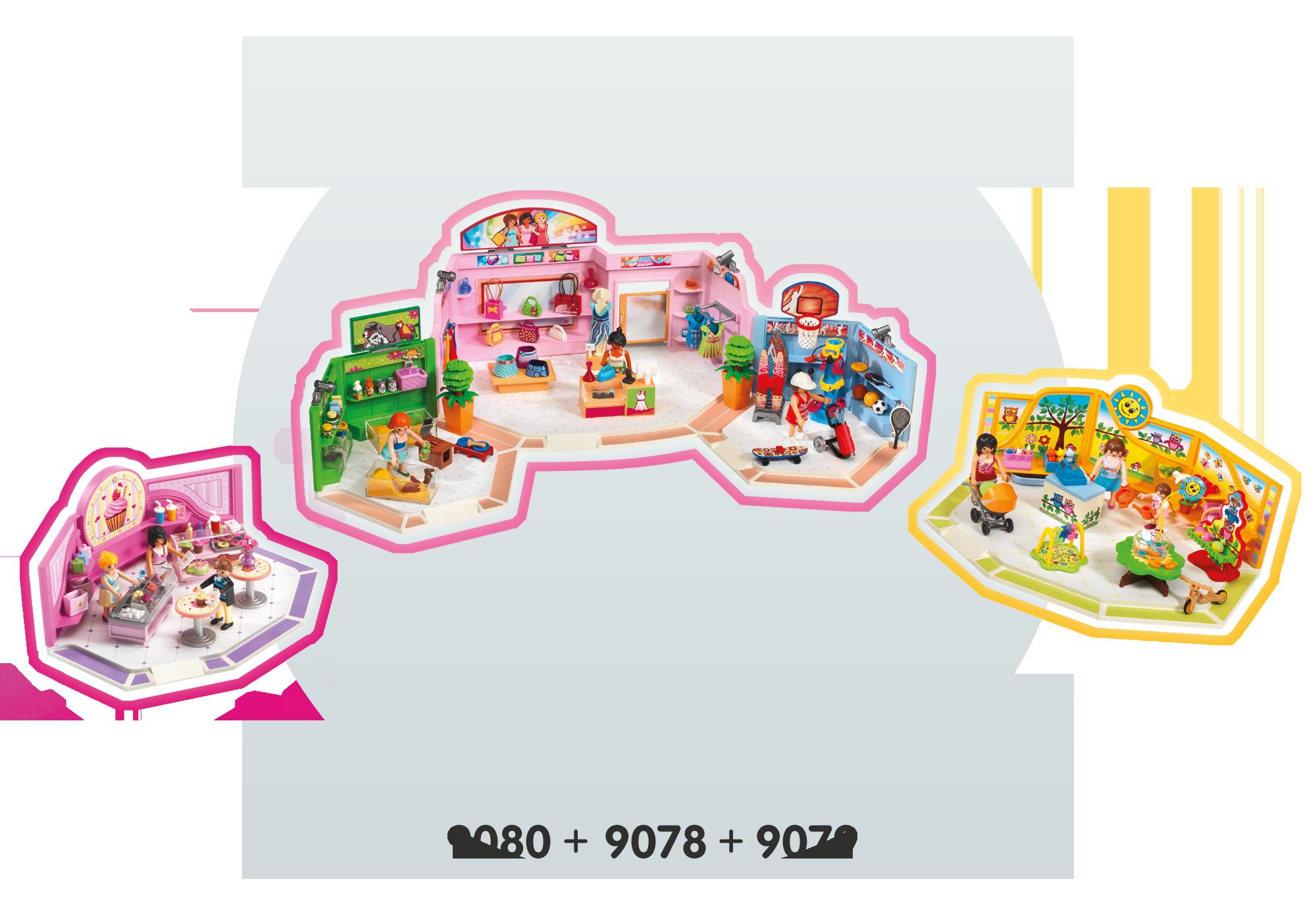 http://media.playmobil.com/i/playmobil/9078_product_extra5/Galleria con 3 negozi