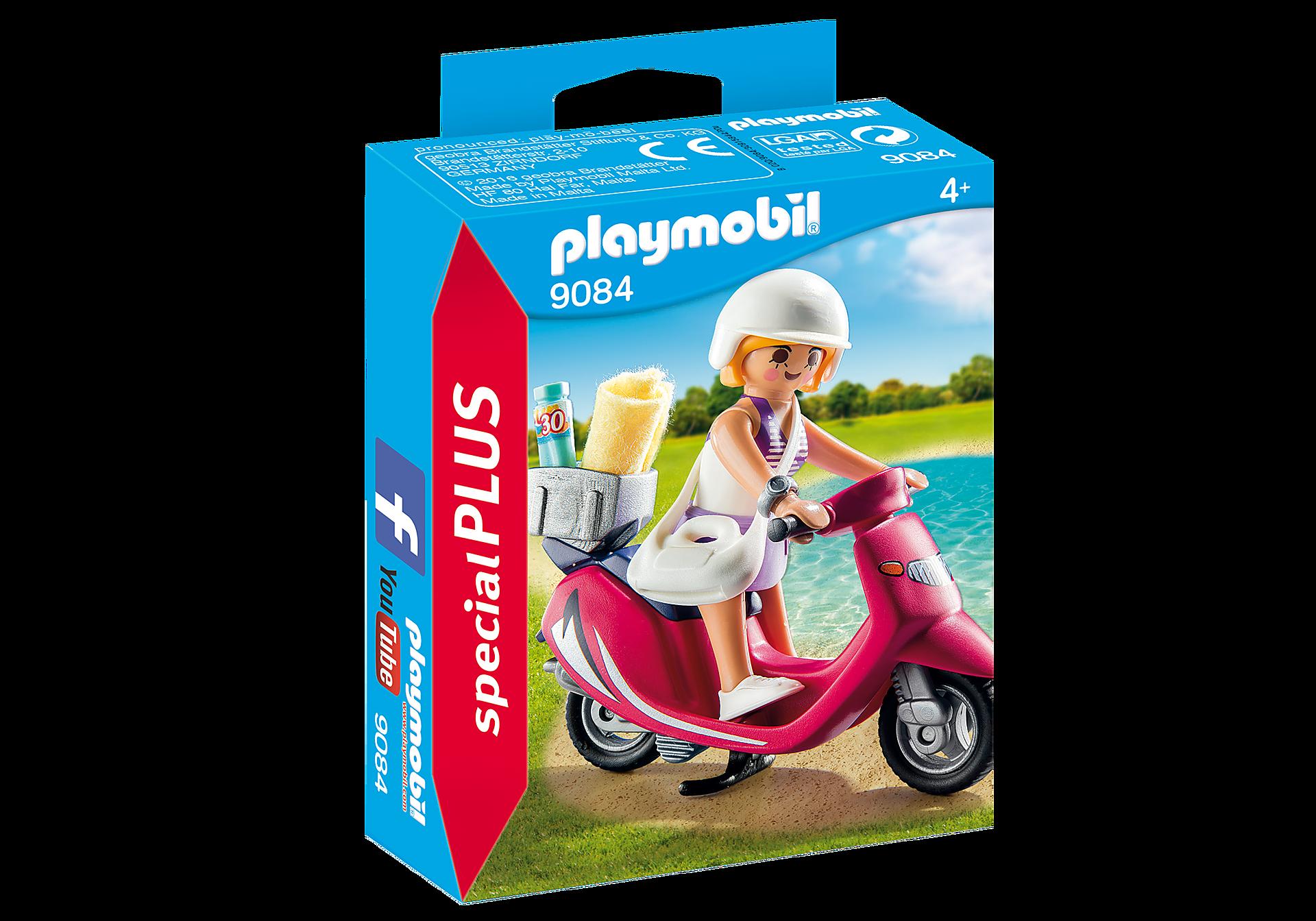 9084 Strand-Girl mit Roller zoom image3