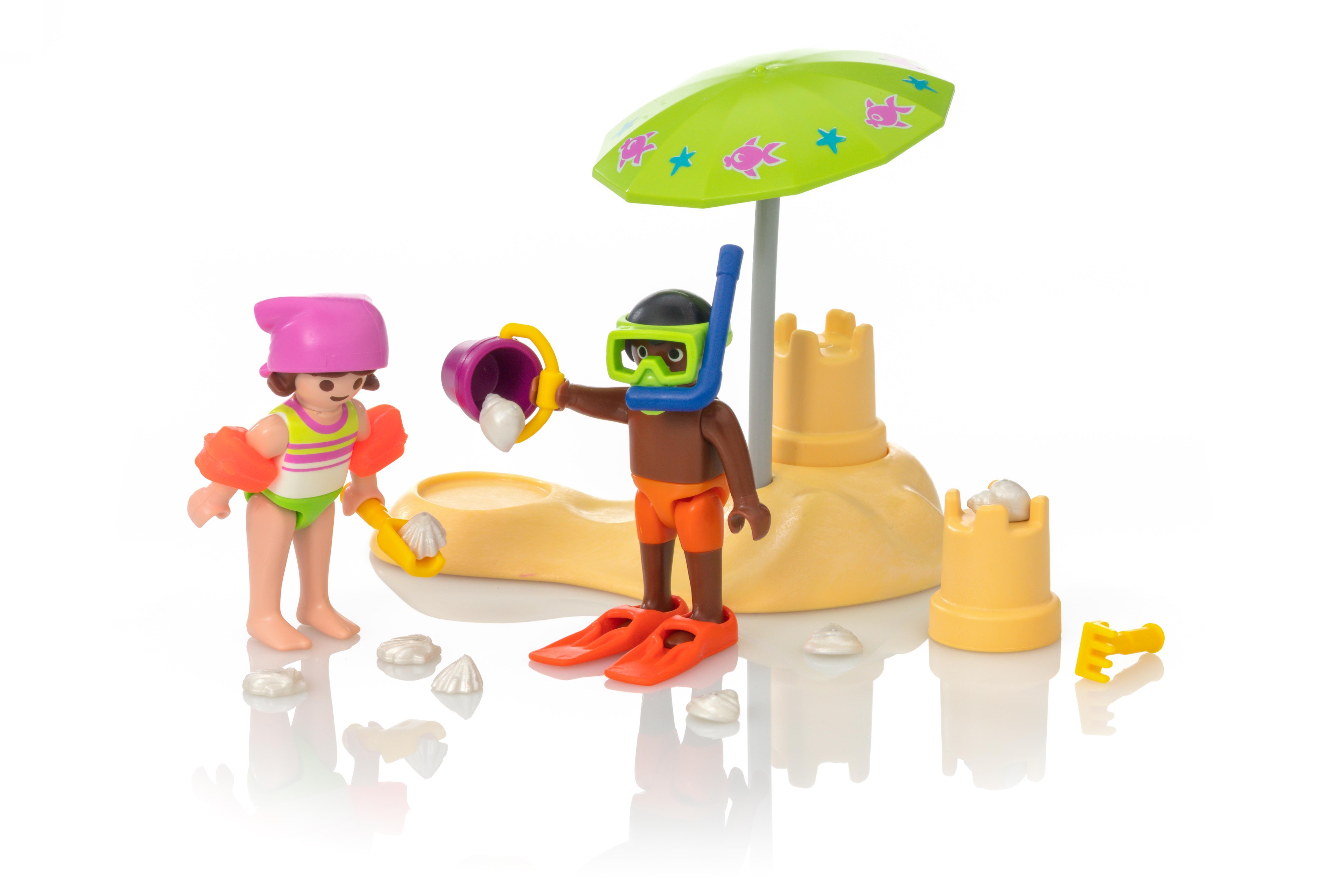 Sandburg malen  Kids mit Sandburg - 9085 - PLAYMOBIL® Deutschland