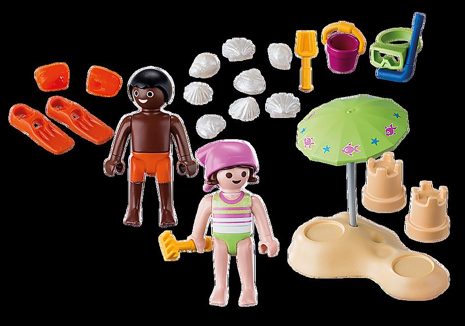 9085 Enfants et châteaux de sable  detail image 4