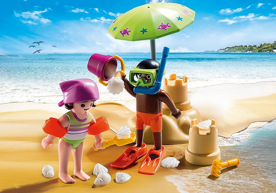 9085 Enfants et châteaux de sable  detail image 1