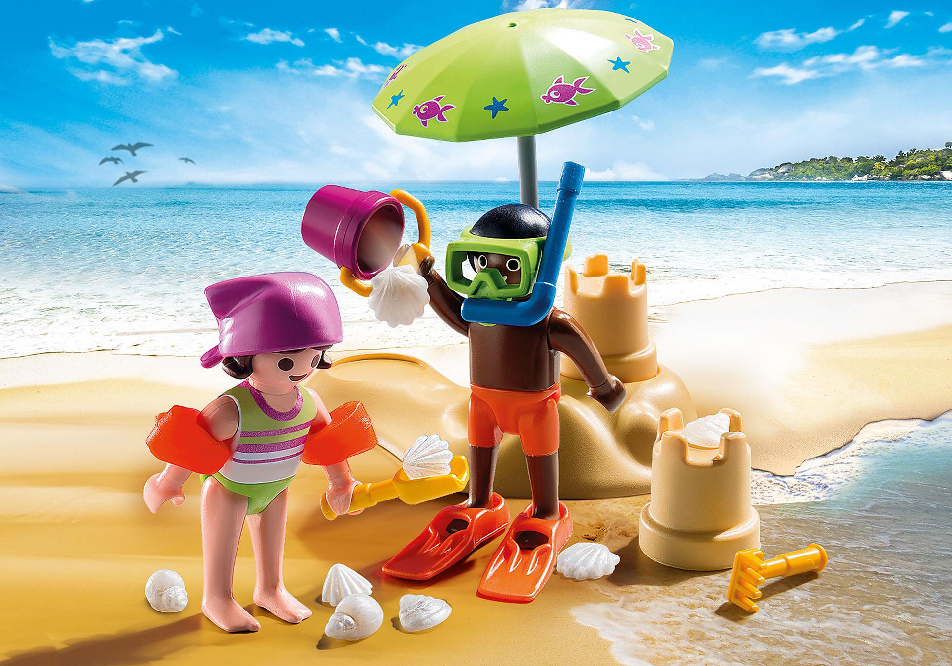 9085 Enfants et châteaux de sable  zoom image1