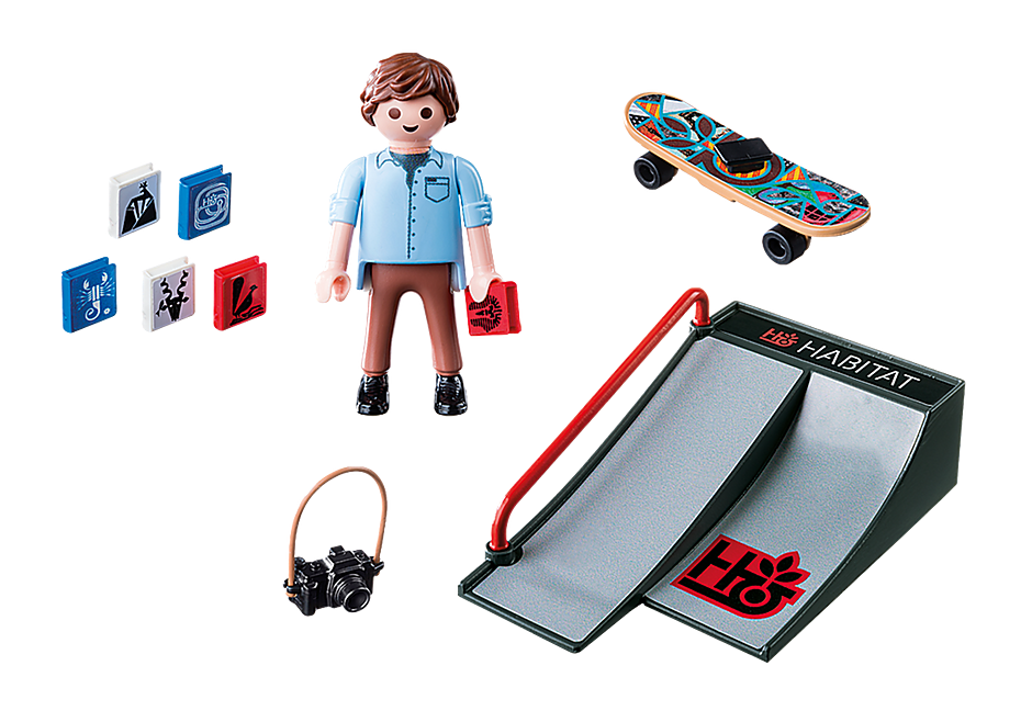 9094 Skateboarder med rampe detail image 4
