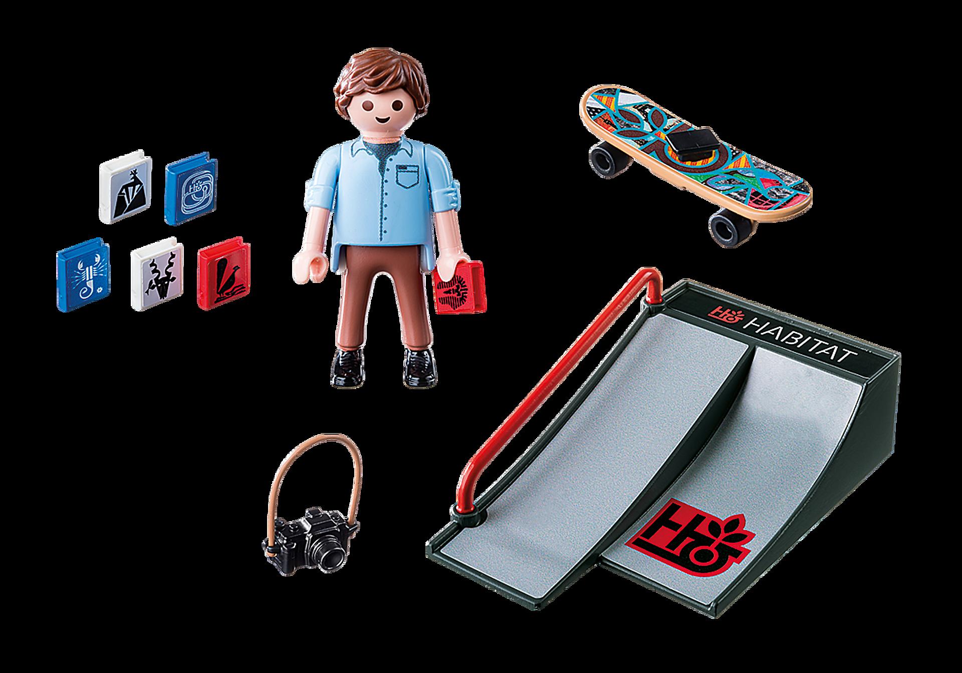9094 Skateboarder med rampe zoom image4