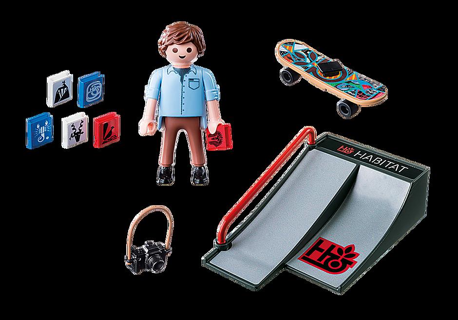 9094 Skater met skateramp detail image 4