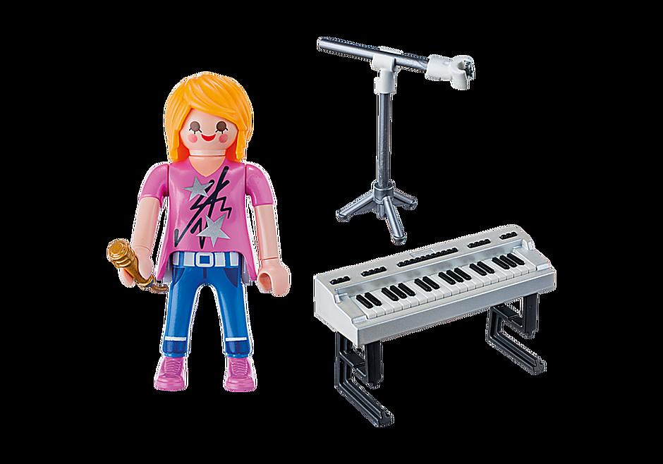 9095 Sångare med keyboard detail image 4