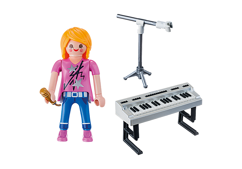 9095 Zangeres met keyboard detail image 4
