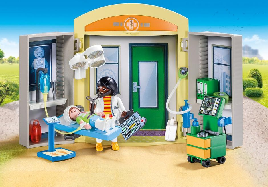 hospital play box 9110 playmobil usa. Black Bedroom Furniture Sets. Home Design Ideas
