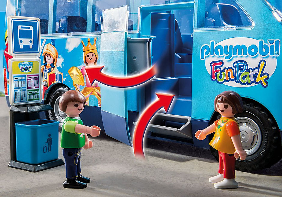 9117 PLAYMOBIL-FunPark Bus detail image 4