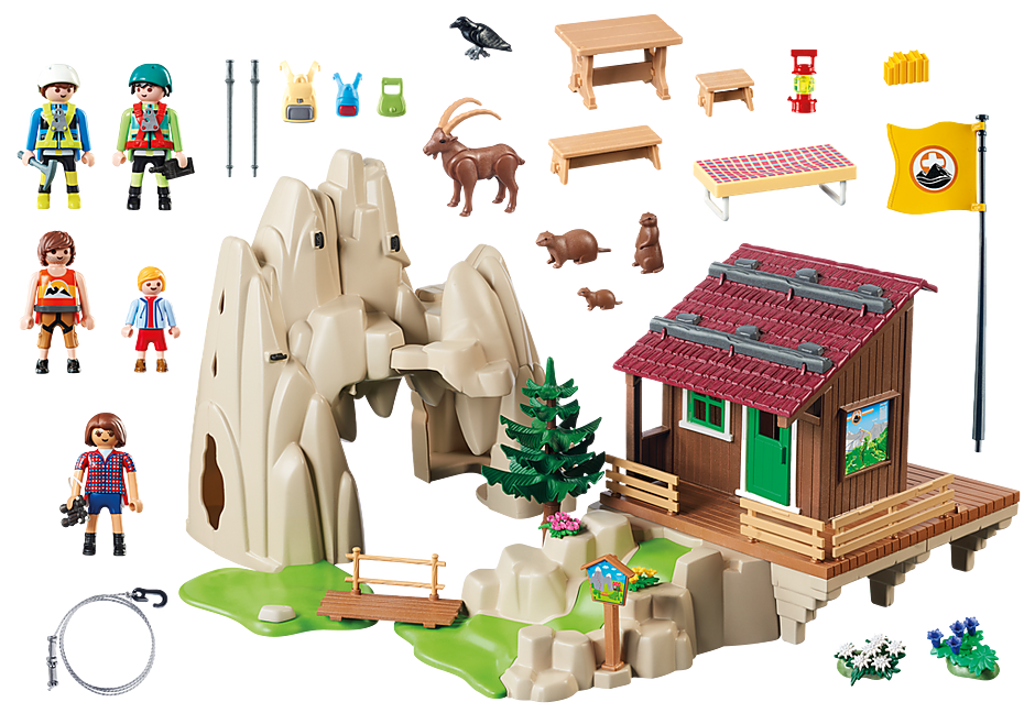 9126 Rock Climbers with Cabin detail image 4