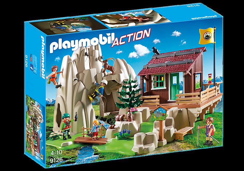 http://media.playmobil.com/i/playmobil/9126_product_box_front/Skała do wspinaczki z chatą górską