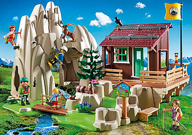 9126 Rock Climbers with Cabin