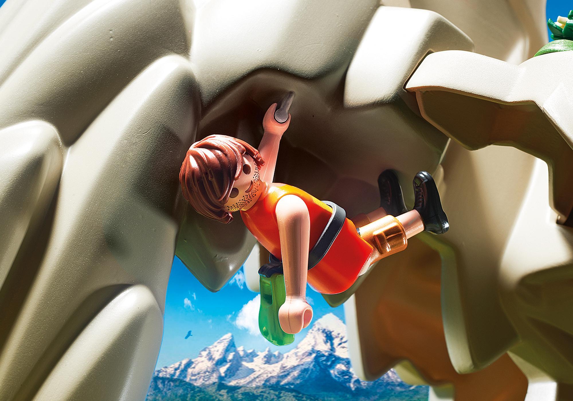 http://media.playmobil.com/i/playmobil/9126_product_extra1/Rocher d'escalade avec espace d'accueil