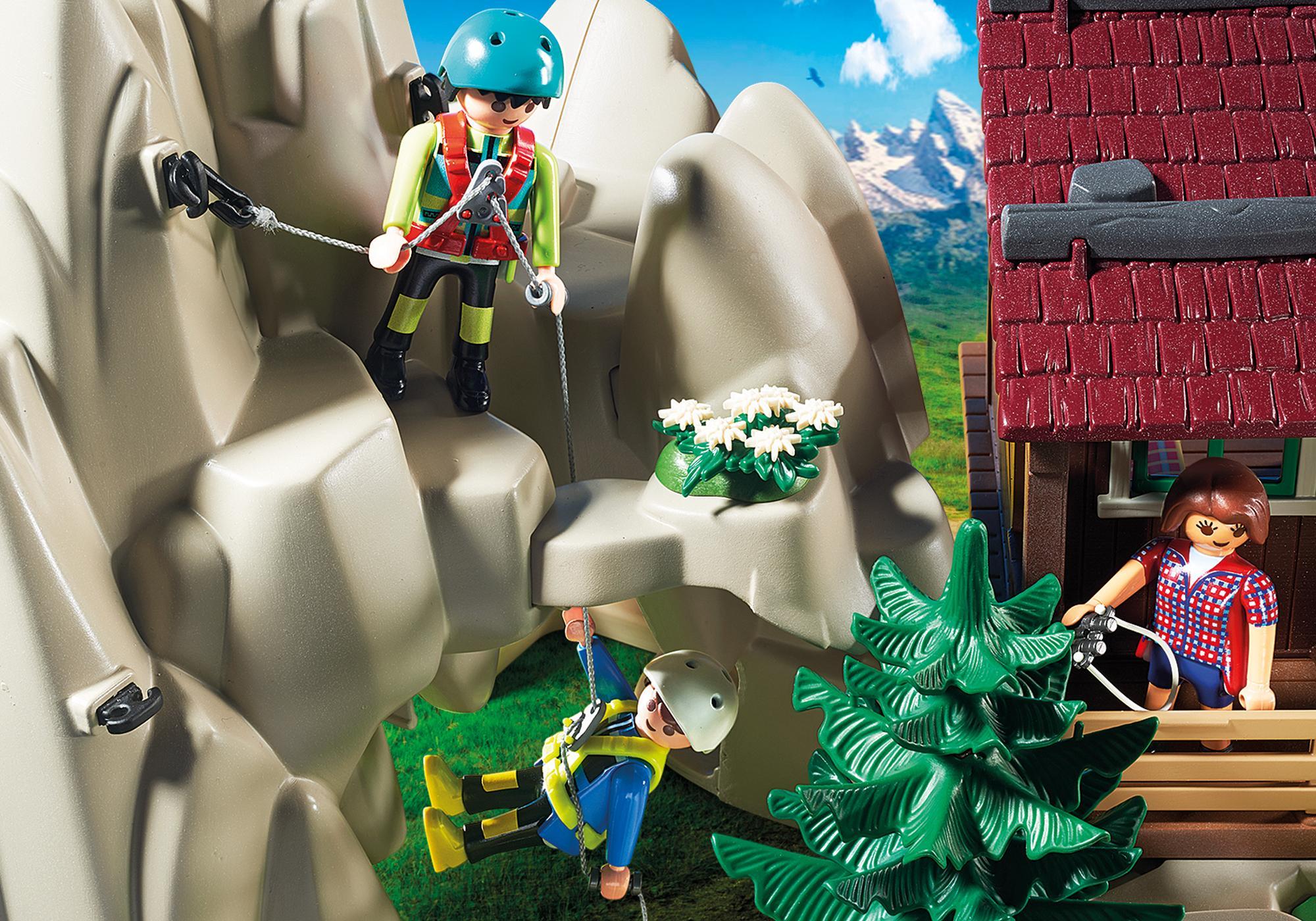 http://media.playmobil.com/i/playmobil/9126_product_extra3/Rocher d'escalade avec espace d'accueil