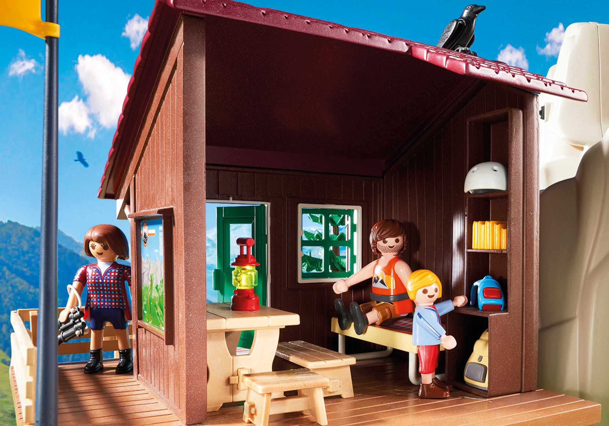 http://media.playmobil.com/i/playmobil/9126_product_extra4/Rocher d'escalade avec espace d'accueil