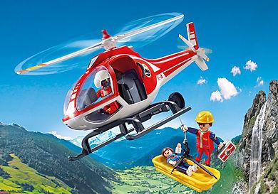 9127 Secouristes des montagnes avec hélicoptère