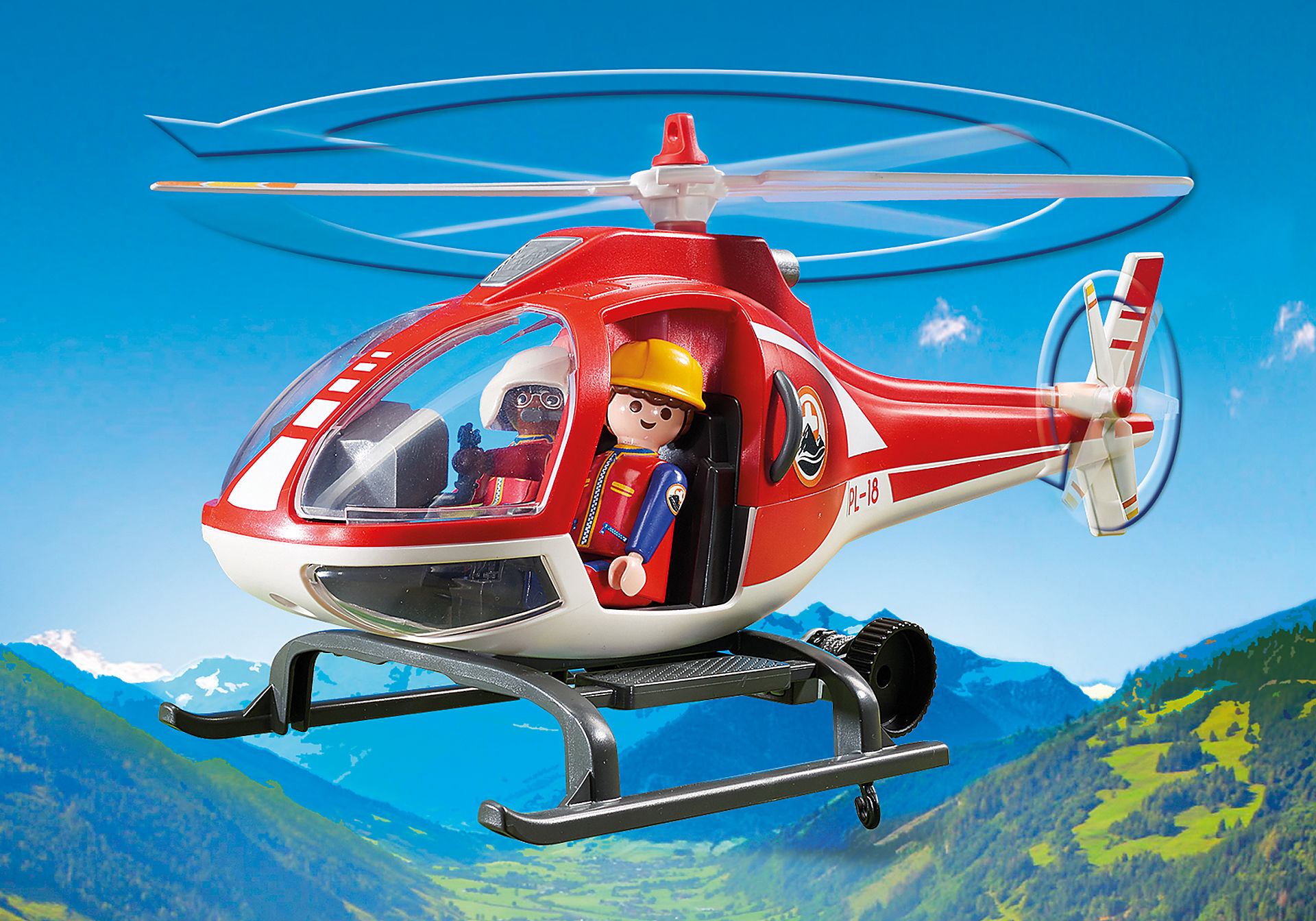 http://media.playmobil.com/i/playmobil/9127_product_extra2/Helicóptero de Rescate de Montaña