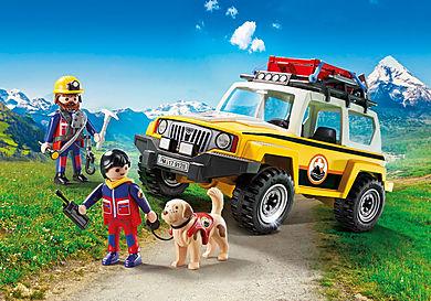 9128 Secouristes des montagnes avec véhicule