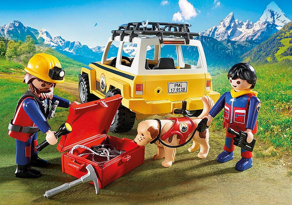 9128 Reddingswerkers met terreinwagen detail image 5